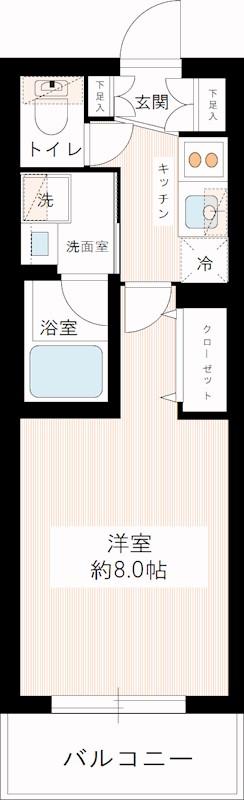 浅草 賃貸 間取2